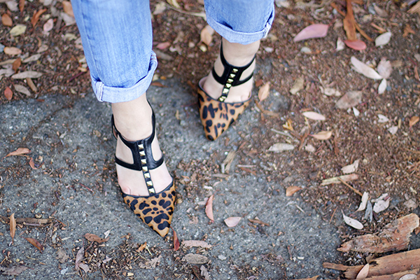 kitten heels, yellowbox shoes, animal print, blogger style, fashion blogger, bay area blogger