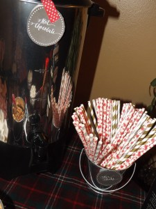hot cocoa bar & straws