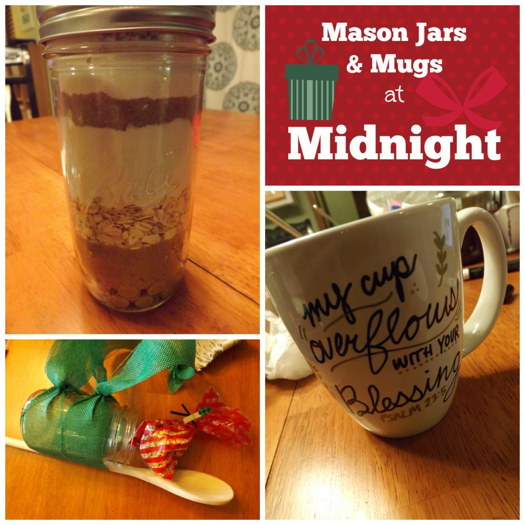 Mason Jars & Mugs at Midnight