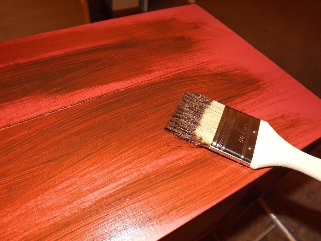Antique wax effect