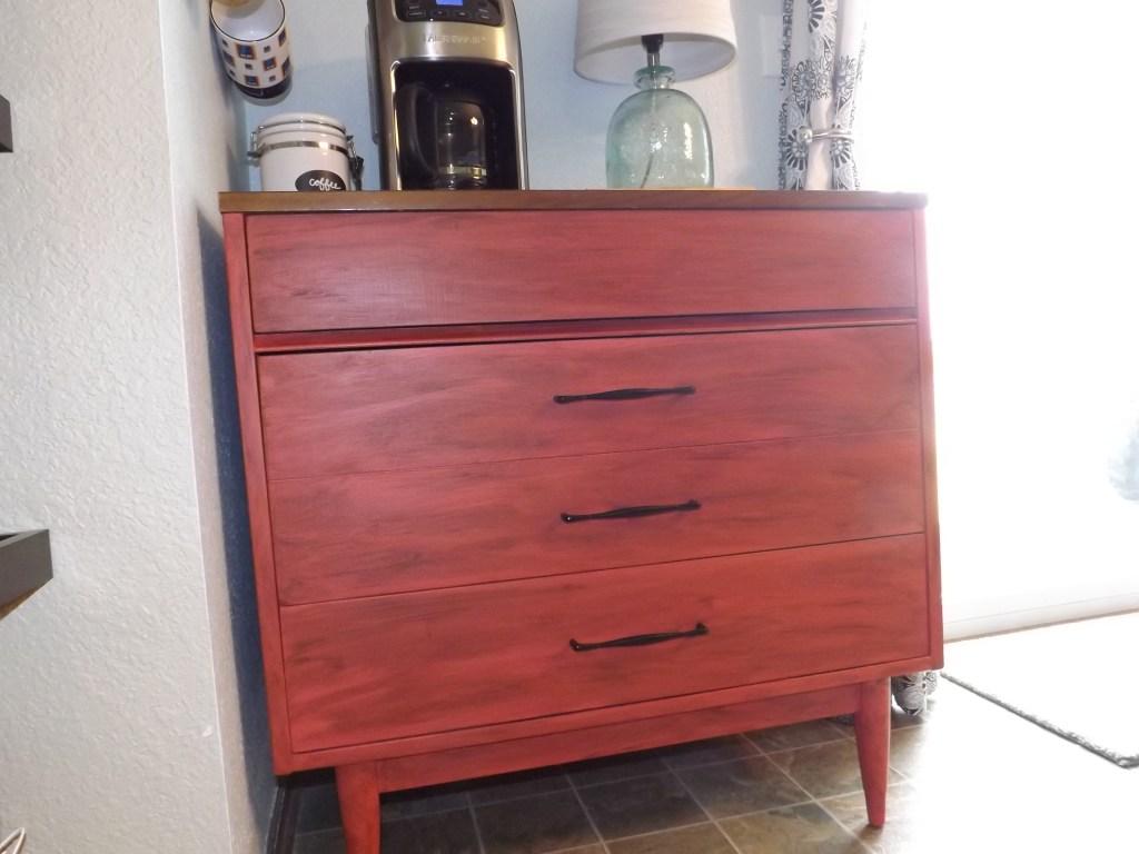 Refinished Dresser After