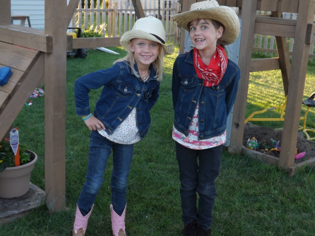 Cowgirls dressed for the occasion