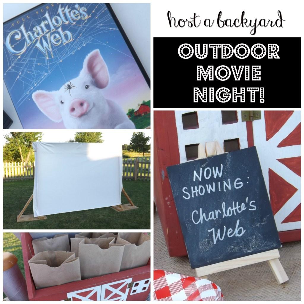 Host a Backyard Outdoor Movie Night