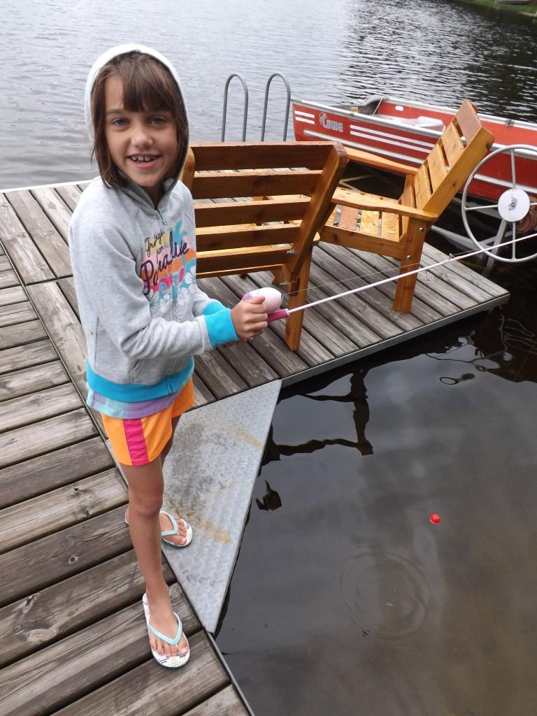Olivia fishing