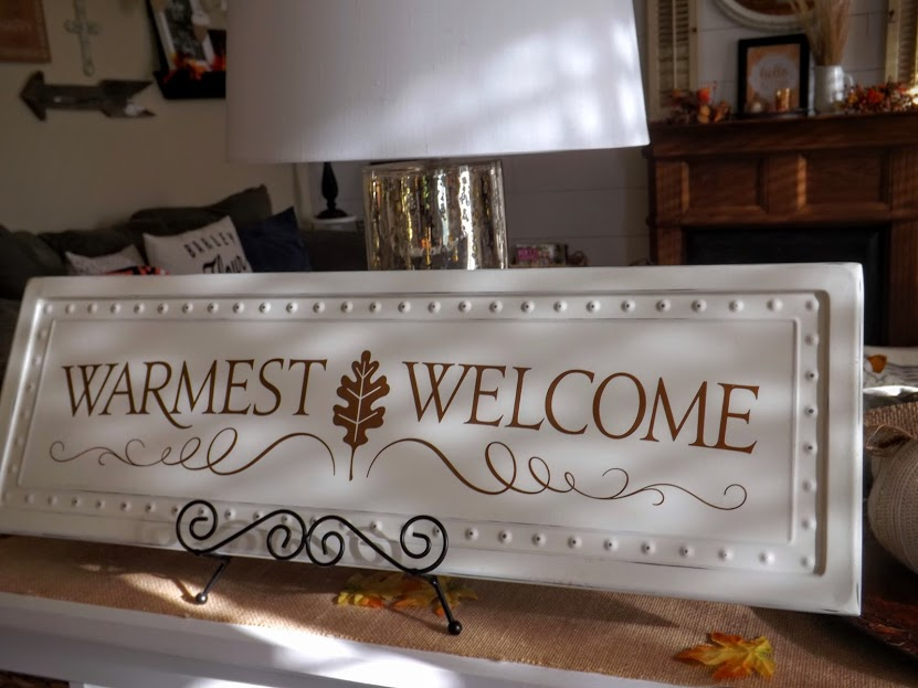 Warmest Welcome Tin Sign