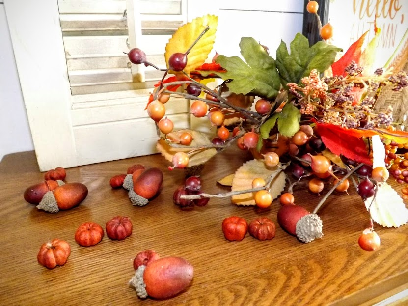 Acorns and Scented Pumpkins