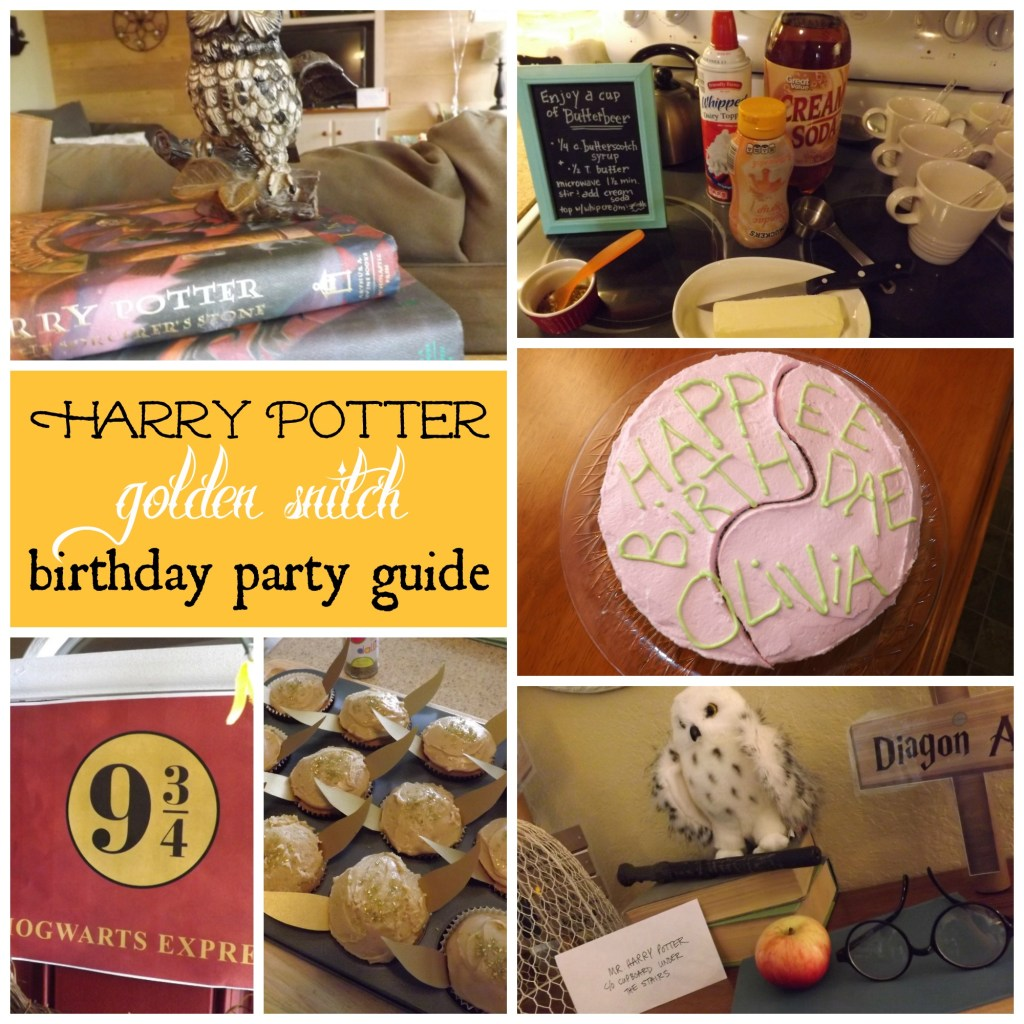 "A Harry Potter ""Golden Snitch"" Party"