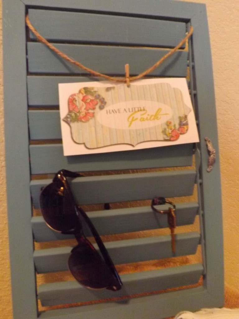 Custom Painted Wooden Shutter