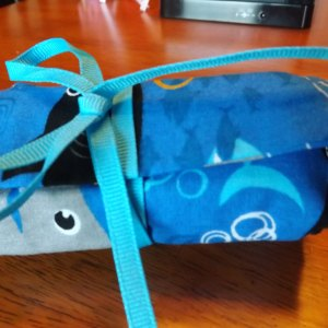 Blue Shark Crayon Roll Up