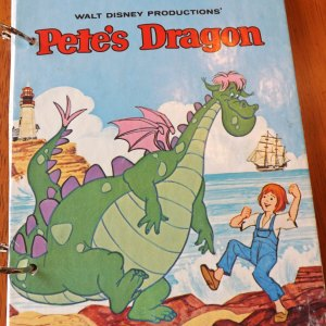 Walt Disney Pete's Dragon Upcycled Little Golden Book Journal