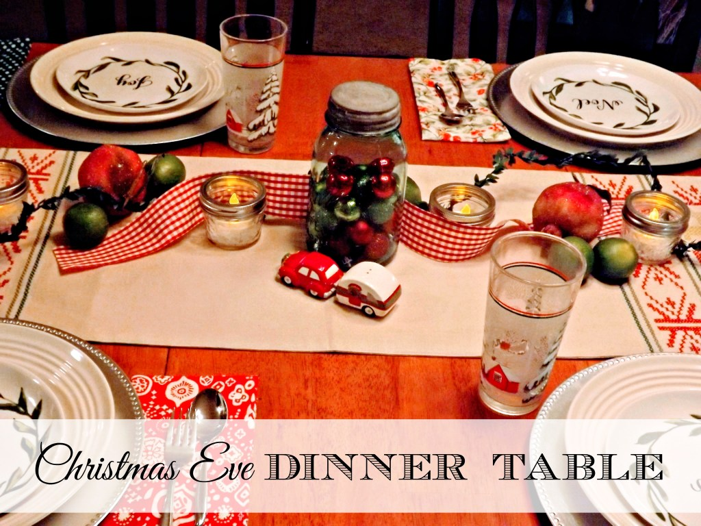 Christmas Eve Dinner Table