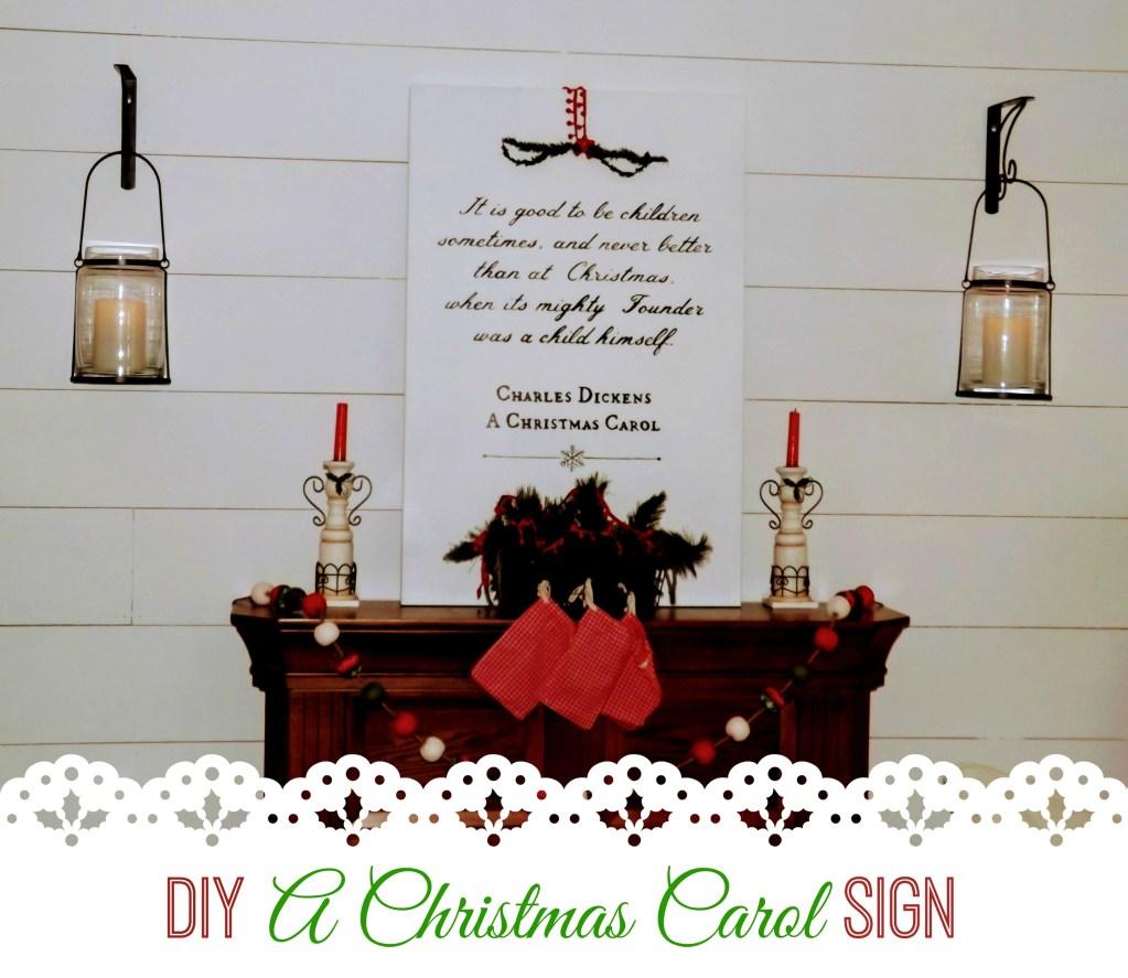 A Christmas Carol DIY Artwork