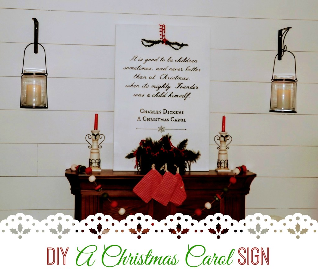 A Christmas Carol DIY Artwork