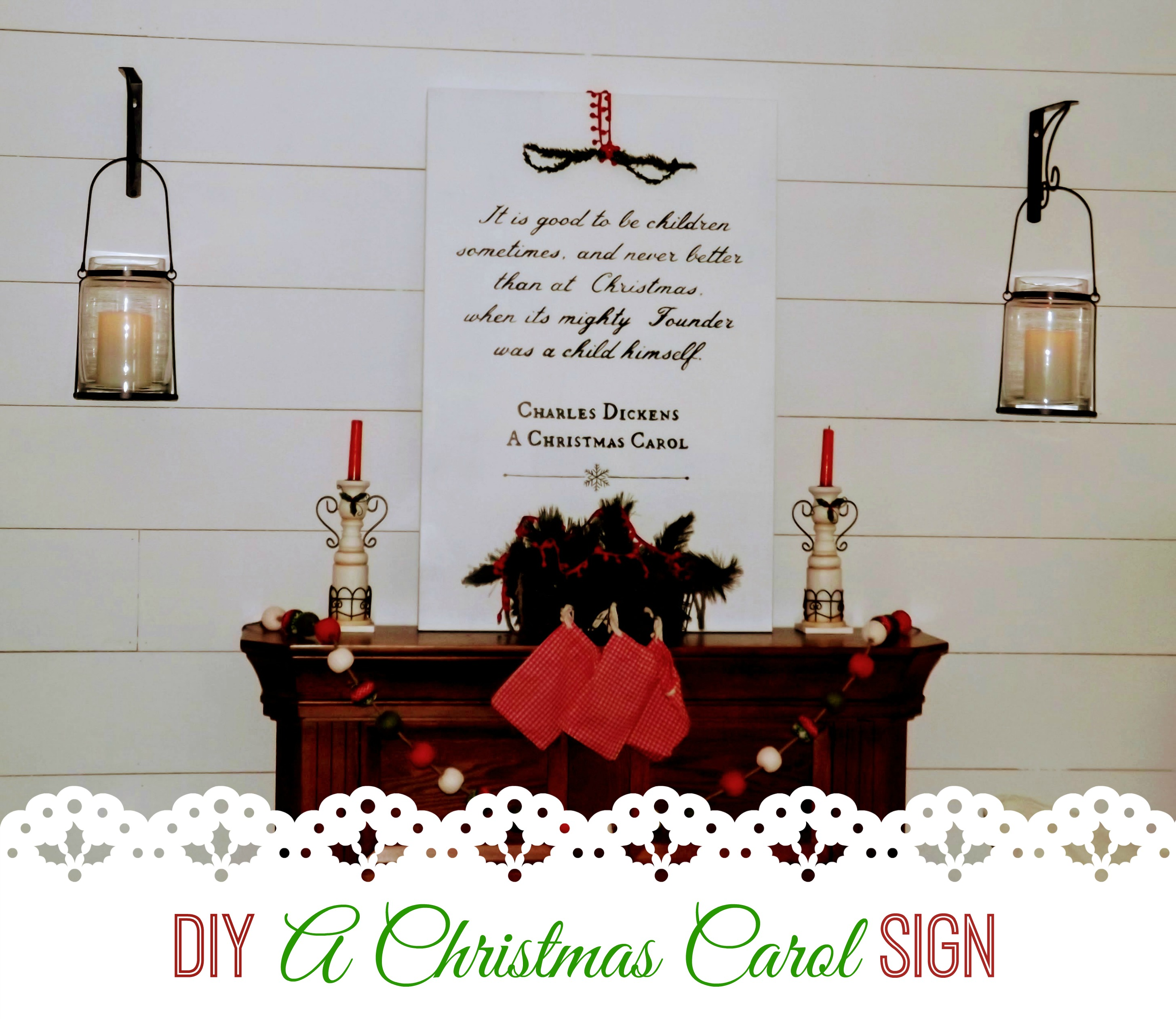 A Christmas Carol DIY Artwork - Have a Little Faith Blog & Shop