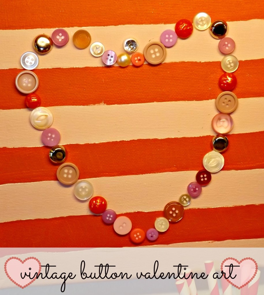 Vintage Button Valentine Art