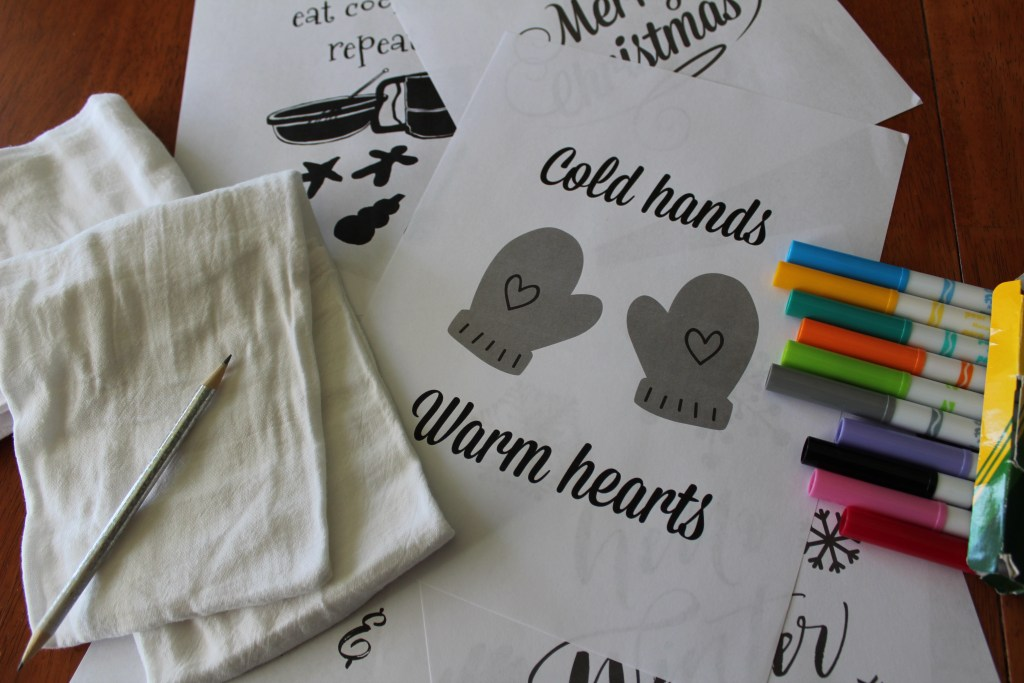 Reversible Holiday Kitchen Towel Craft