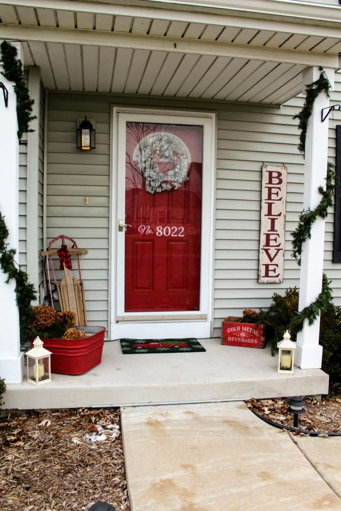 Outdoor Christmas Porch