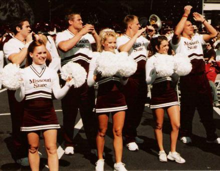 Cheering at Missouri State