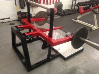 The belt squat machine that I used