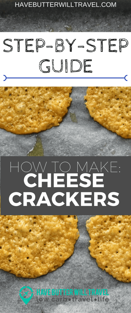 Cheese crackers are a great cracker option when living the keto lifestyle. How to make cheese crackers part of the Have Butter will travel 'How to' series.