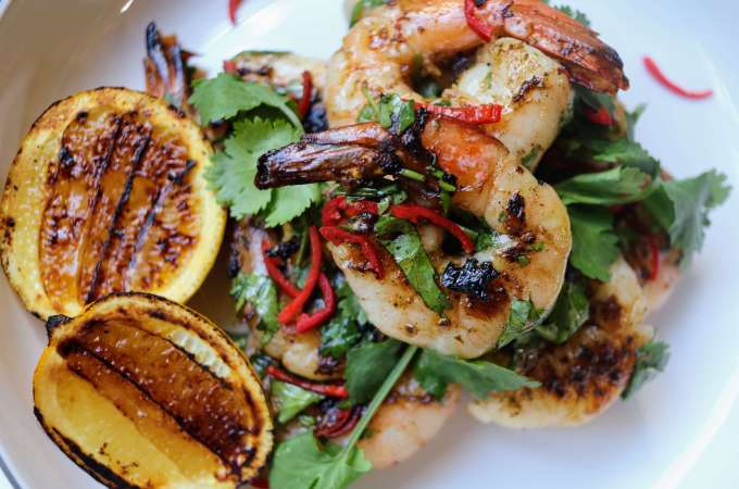 Marinated BBQ Prawns