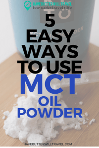 If you have heard much about the ketogenic diet or the low carb high fat lifestyle then chances are you have heard about MCT oil. Here is 5 ways to use powdered MCT oil and the benefits of the powdered form of MCT oil.