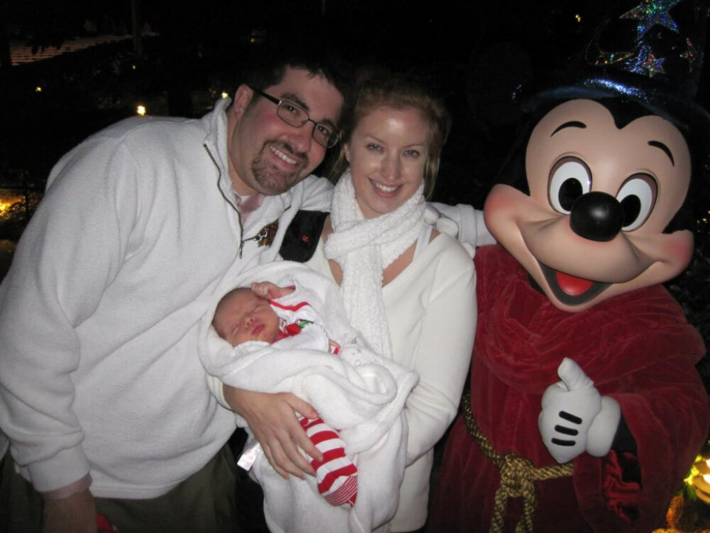 Character greetings with a toddler at Walt Disney World