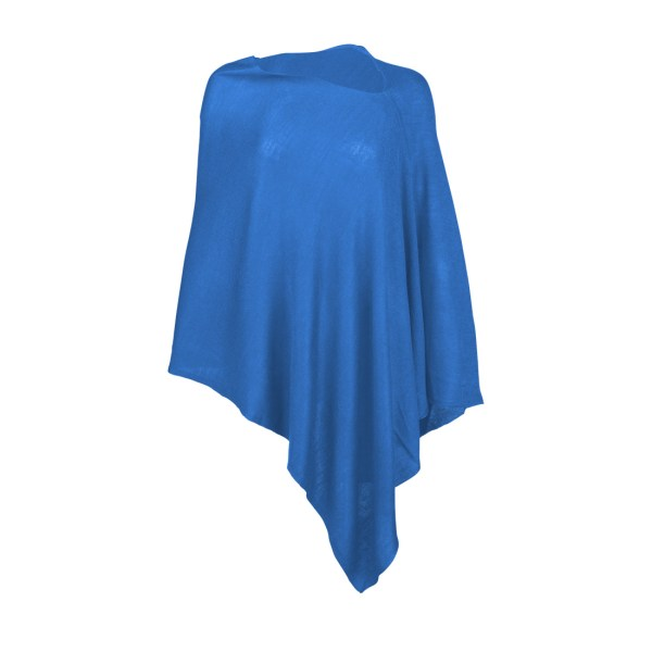 Chelsea Poncho - Royal Blue