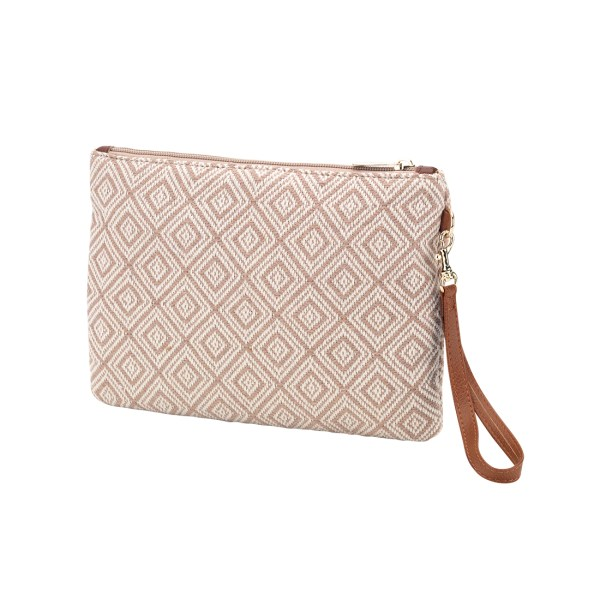 Tan Diamond Everly Wristlet