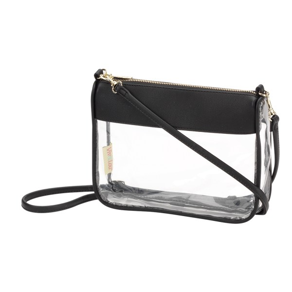 Black Addison Clear Purse