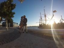 The Duyfken docking at Elizabeth Quay