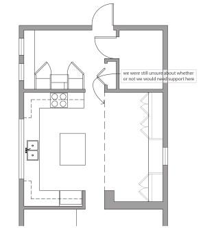 Kitchen layout option 5