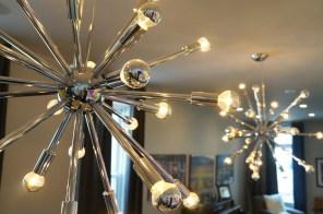 closeup of dining room lights