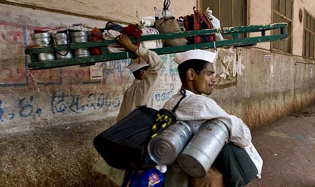 Tiffin wallah in Mumbai (food delivery)