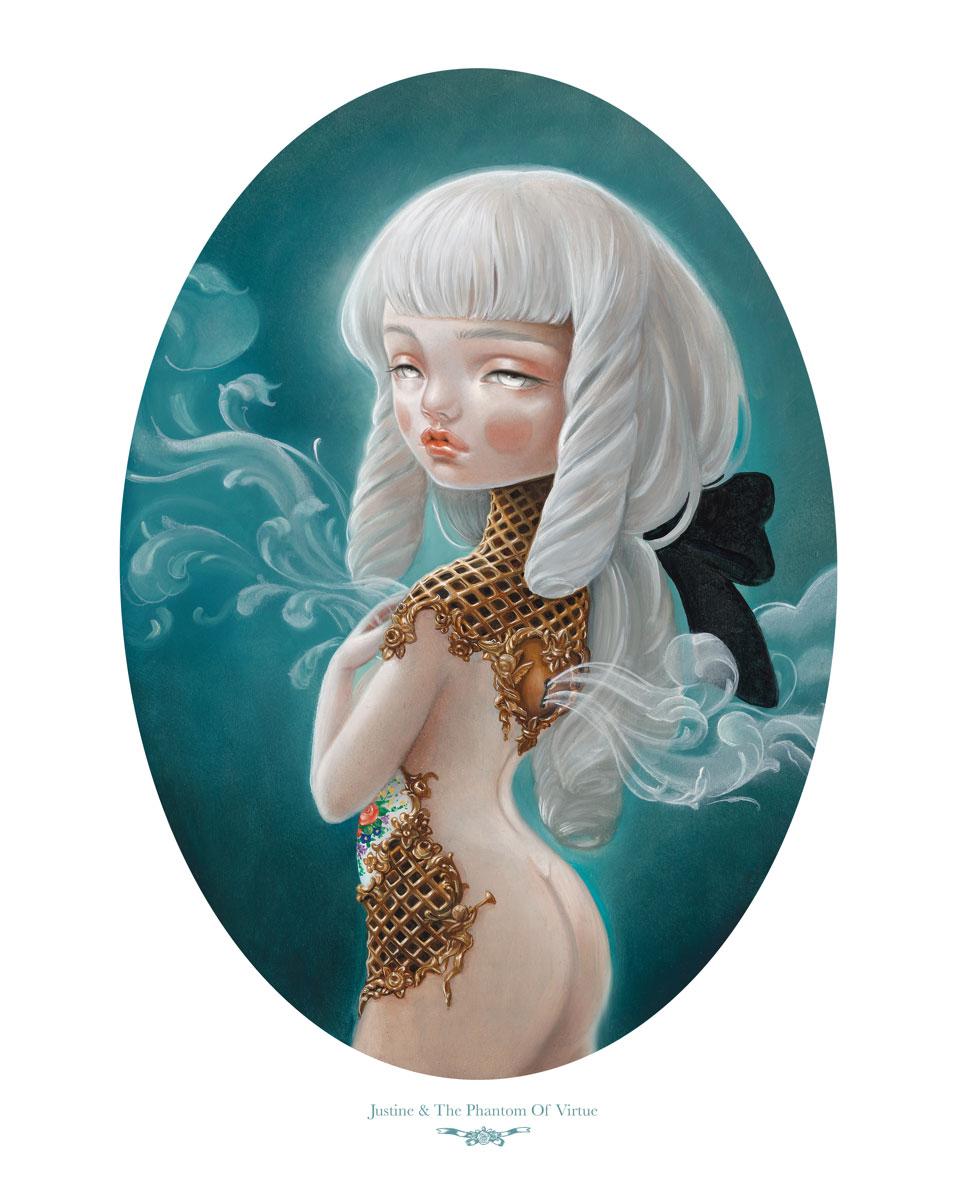 """Kukula """"Justine & The Phantom Of Virtue"""" Print Sale"""