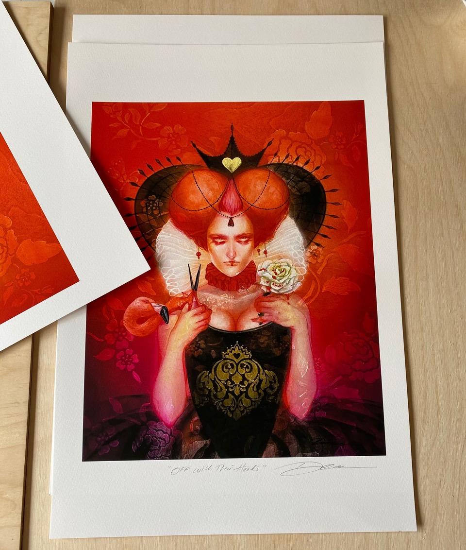 "Lara Dann ""Queen Of Hearts"" Print"