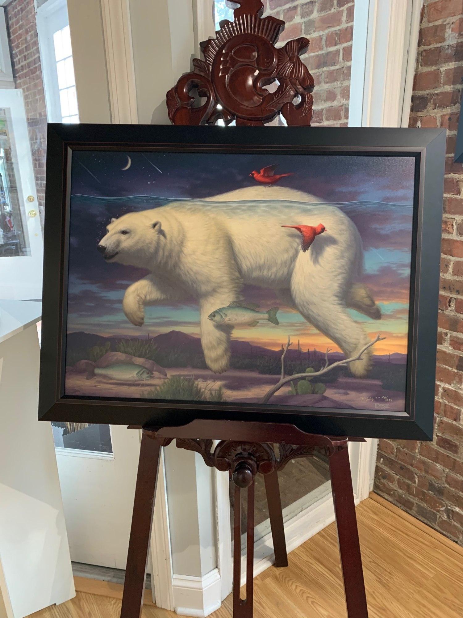 """Phillip Singer """"Night Swimming"""" Framed Print"""