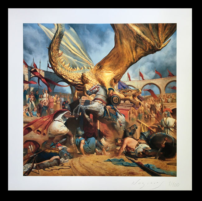 """Gallery """"In The Court Of The Dragon"""" Print"""