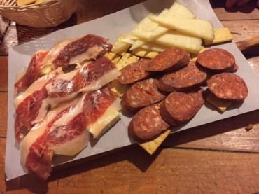Jamón Ibérico, Chorizo y Manchego