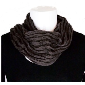Netted (two-way) wrap around scarf to snood in black