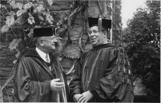 Pres. Felix Morley with Morris E. Leeds.