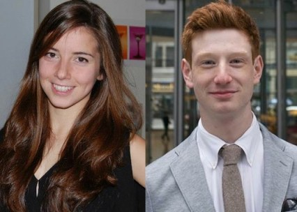 Editor-in-Chief Katherine Greifeld '15 and Associate Editor Cormac Rada '17 (left to right).