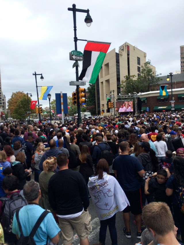 Pope Francis' Sunday mass in Philadelphia was expected to attract over one million people from around the world. September 27, 2015. Maggie Heffernan for The Clerk