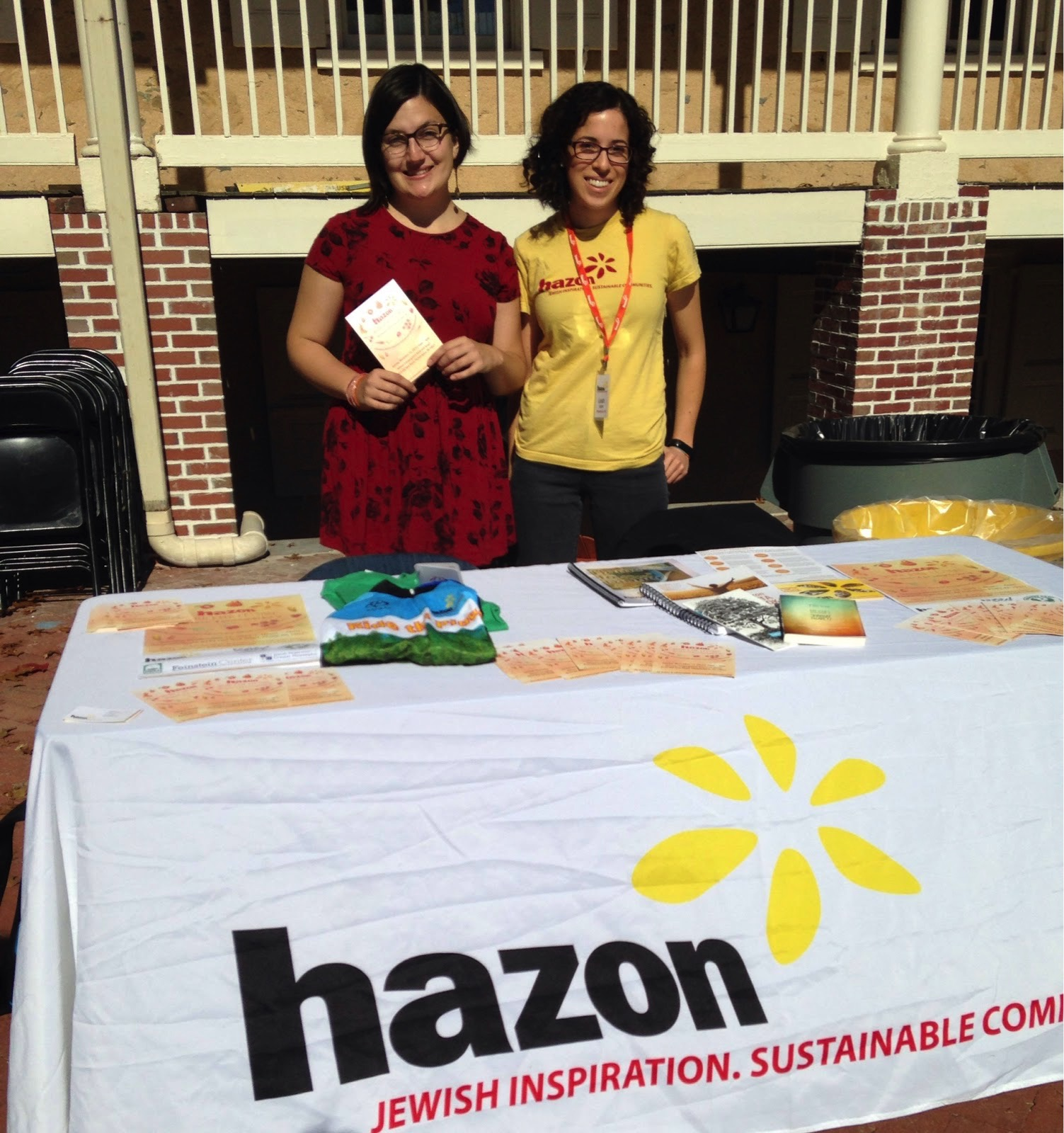 Representatives from Hazon.