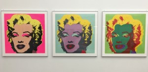 Marilyn Monroe prints. Andy Warhol. Photo by Holden Blanco