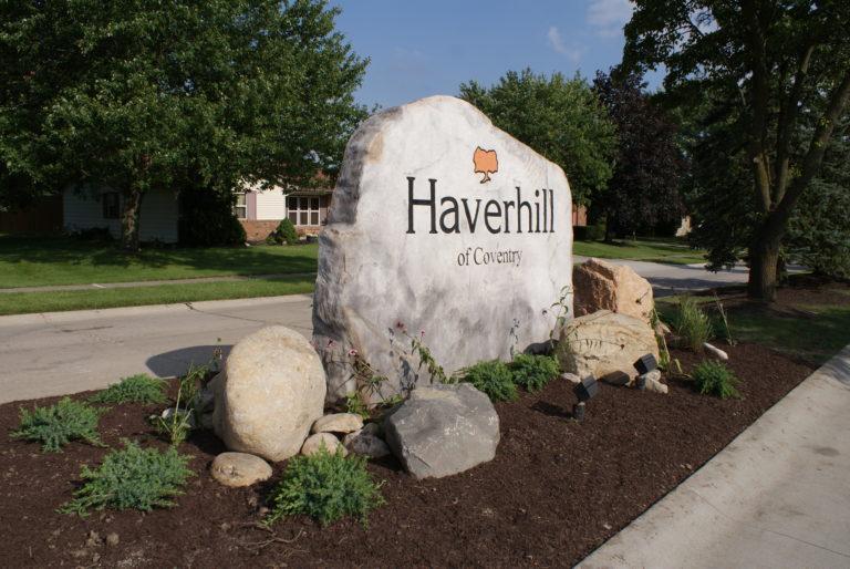 Haverhill neighborhood entrance