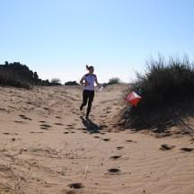 Sprint i Side blant ruiner og på sanddyner