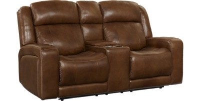 Loveseats in Leather  Fabric  Brown  Beige   More   Havertys Aviator Loveseat