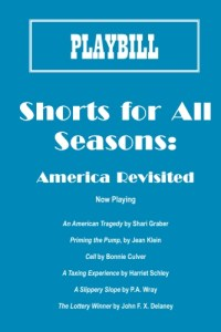 Front cover Shorts for All Seasons America Revisited - 6 Satirical short Plays