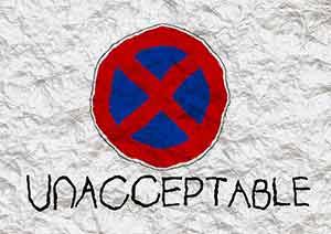 unacceptable sign